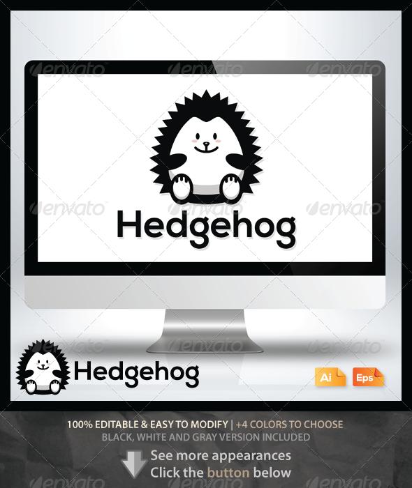 Hedgehog Logo - Animals Logo Templates