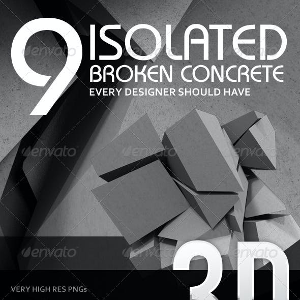 9 Broken 3D Concrete