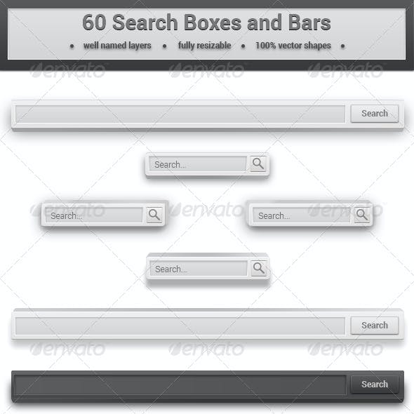 60 Search Boxes and Bars