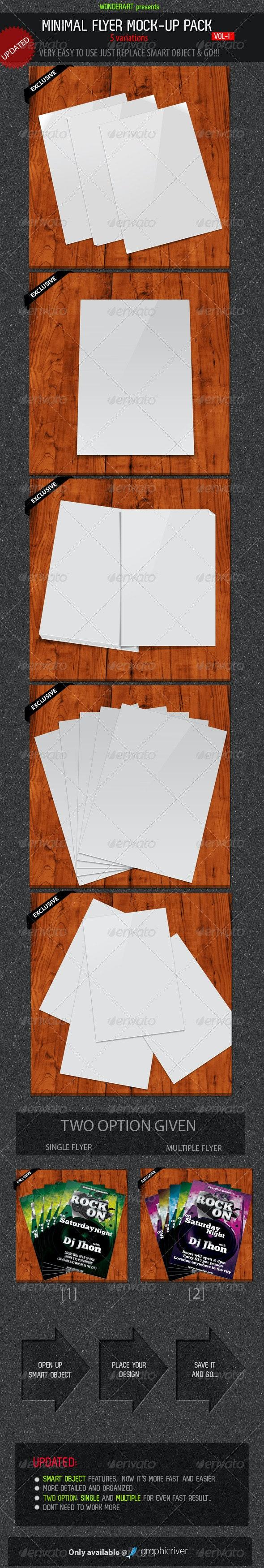 Minimal Flyer Mock-up Pack vol-1 - Flyers Print