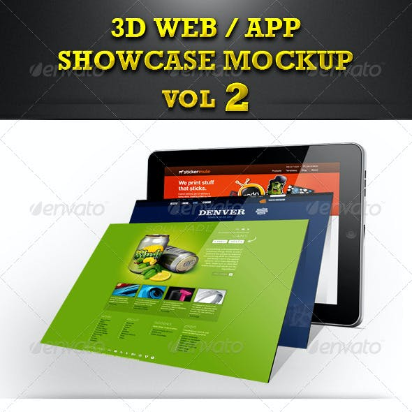 Web / App Showcase Mockup Vol 2