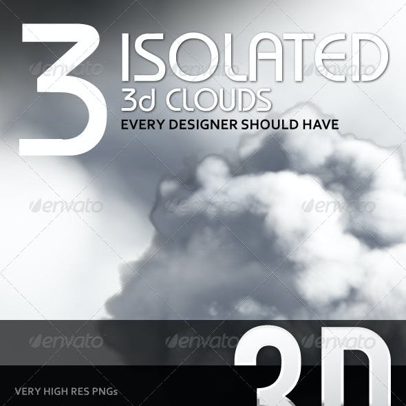 3 Isolated 3D Clouds