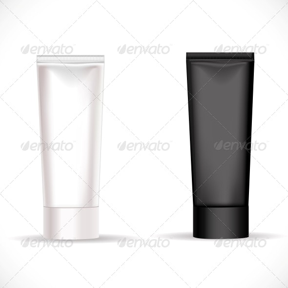 Black and White Tube for Cream  - Man-made Objects Objects
