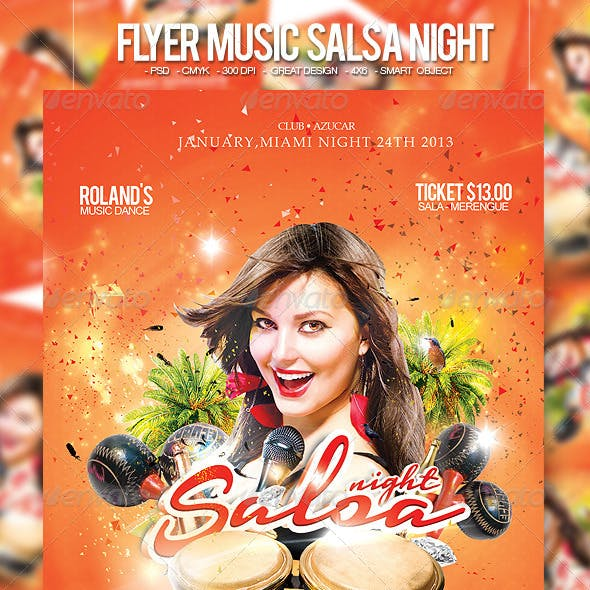 Flyer Music Salsa Night