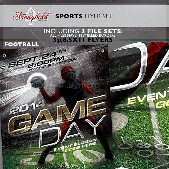 Sports Flyer 3-Pack Flyer Template