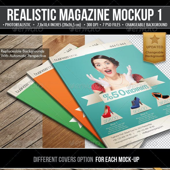 Realistic Magazine Mock-Ups