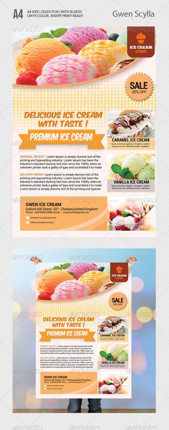 Ice Cream Flyer Templates - Restaurant Flyers