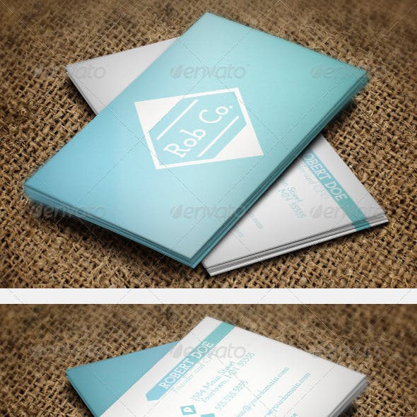 Clean Gradient Business Cards