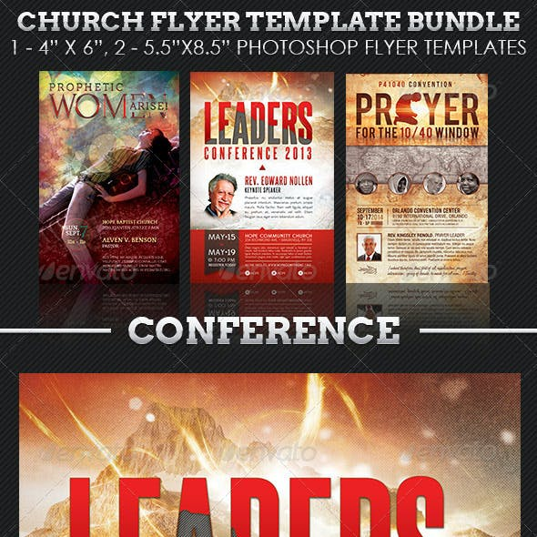 Church Conference Flyer Template Bundle