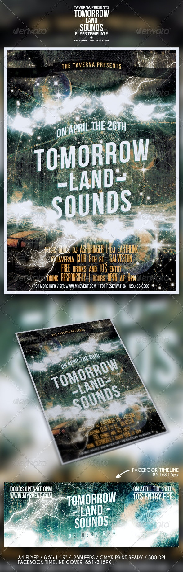 Tomorrow Land Sounds - Flyer - Concerts Events