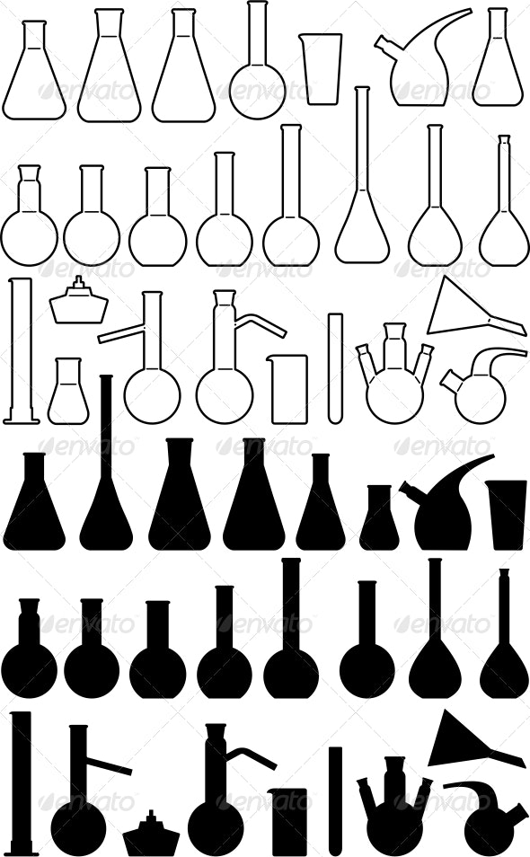 Glass chemical laboratory ware - Man-made Objects Objects