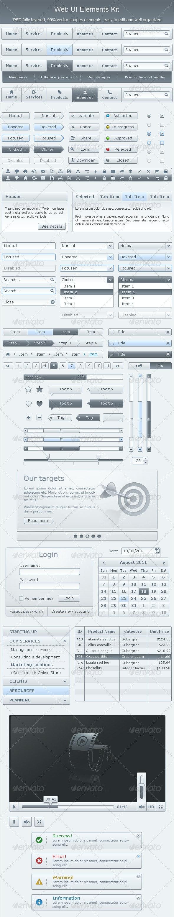 Web UI Elements Kit