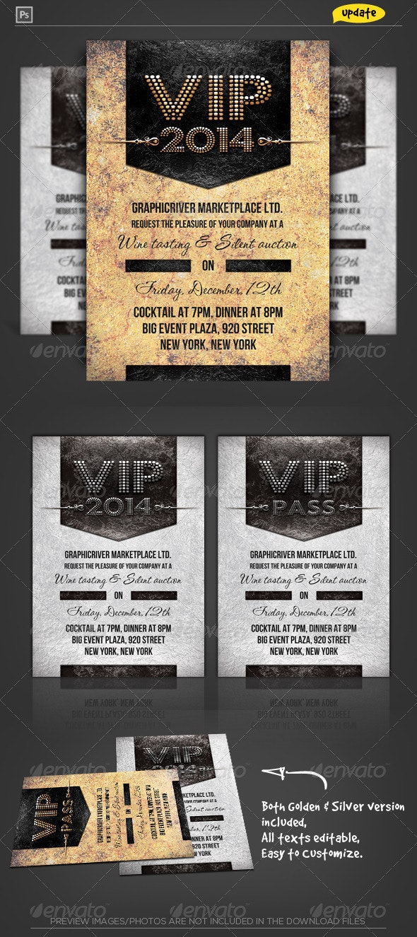 VIP Pass Corporate Invitation - Invitations Cards & Invites