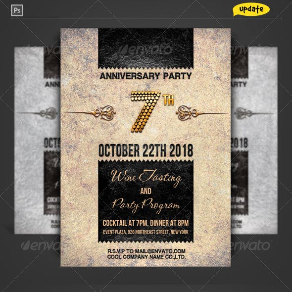 Corporate Anniversary Invitation