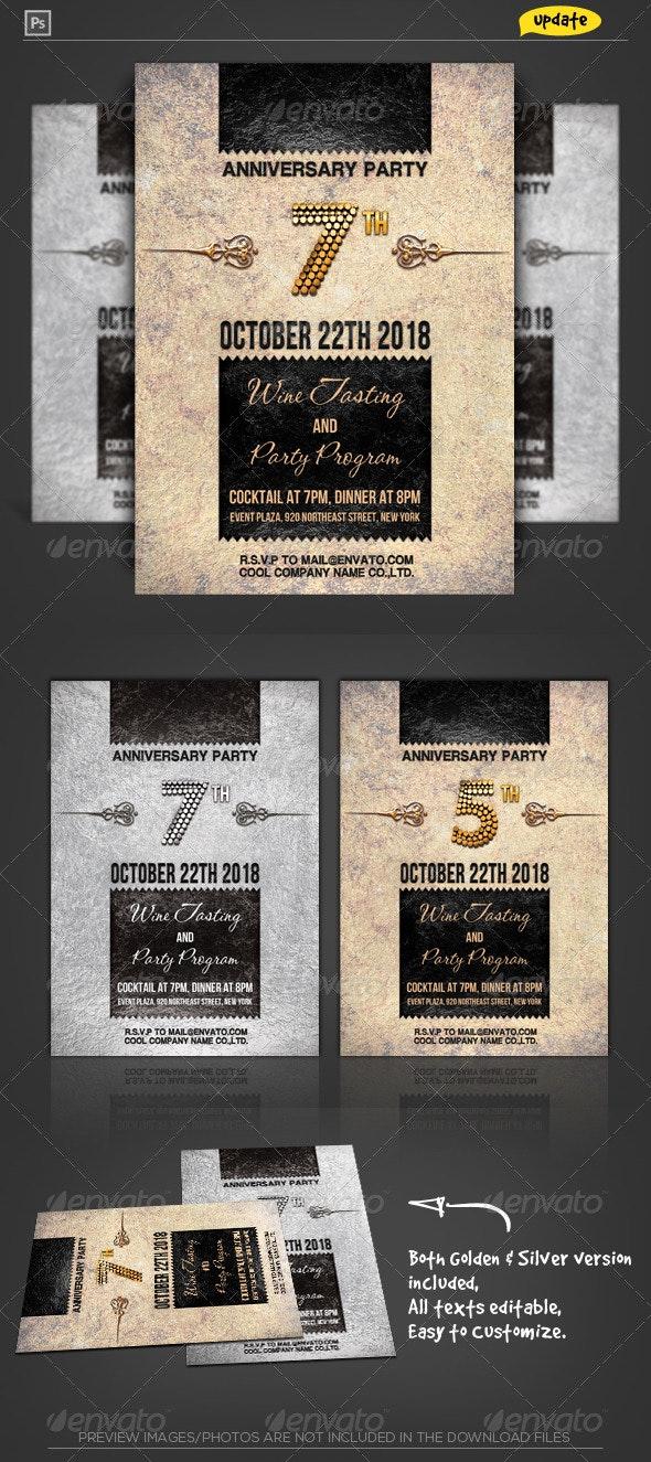 Corporate Anniversary Invitation - Anniversary Greeting Cards
