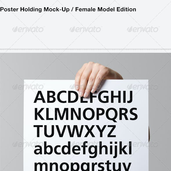 Poster Holding Mock-Up / Female Model Edition
