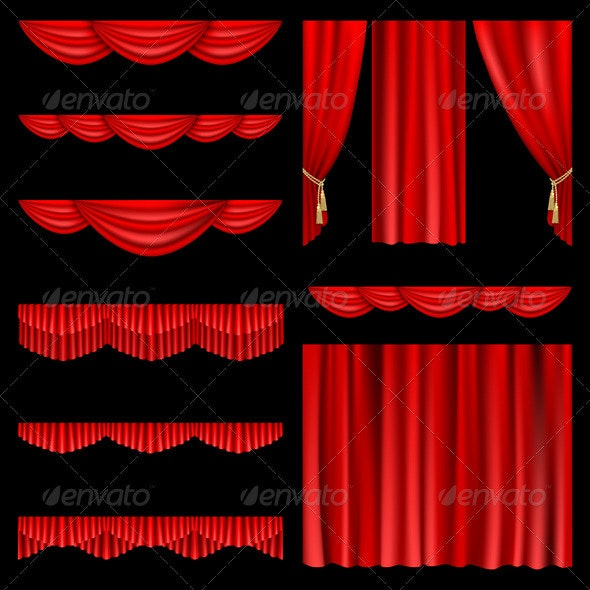 Red curtains - Backgrounds Decorative
