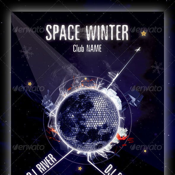 Space Winter Flyer Template