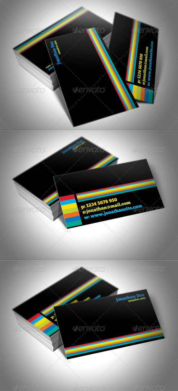 Colors Business Card - Corporate Business Cards