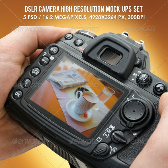 DSLR Camera High Resolution Mock-ups