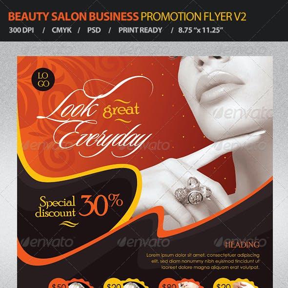 Beauty Salon Business Promotion Flyer Vol 2