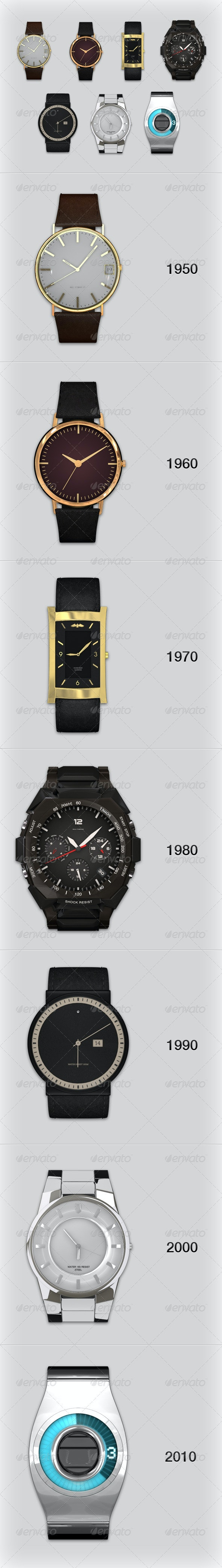 Watch Collection - Objects 3D Renders