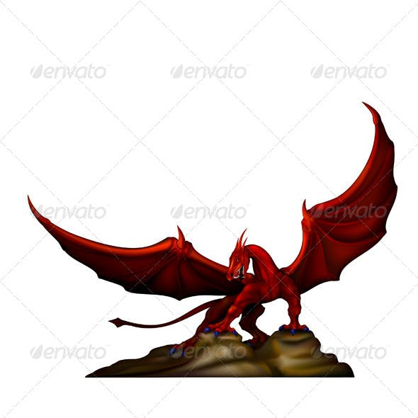 Red Dragon on the Rocks