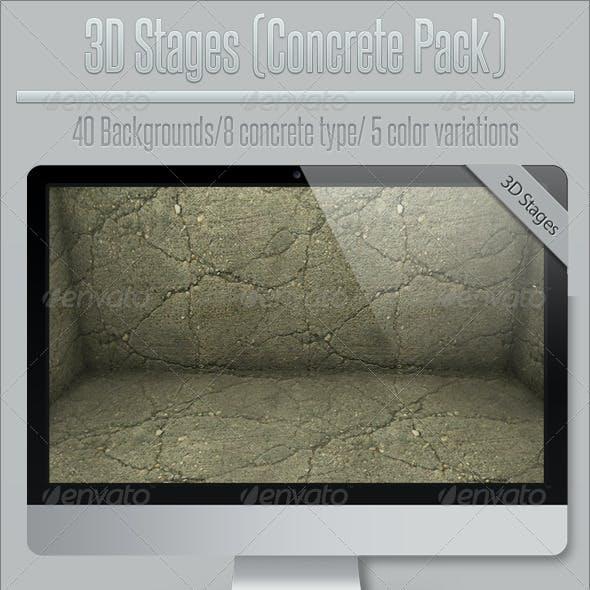 3D Stages (Concrete Pack)