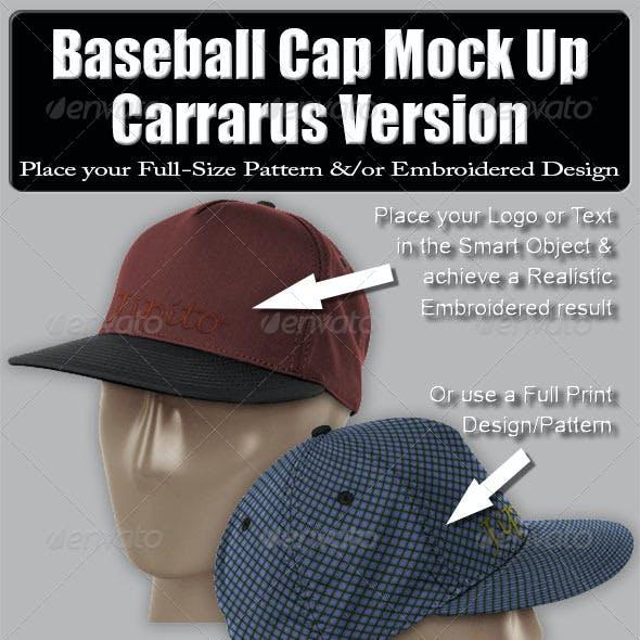 Baseball Cap Mock Up-Carrarus Version