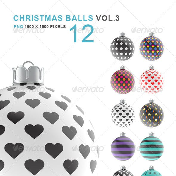 Christmas Balls Set of 12 Vol.3