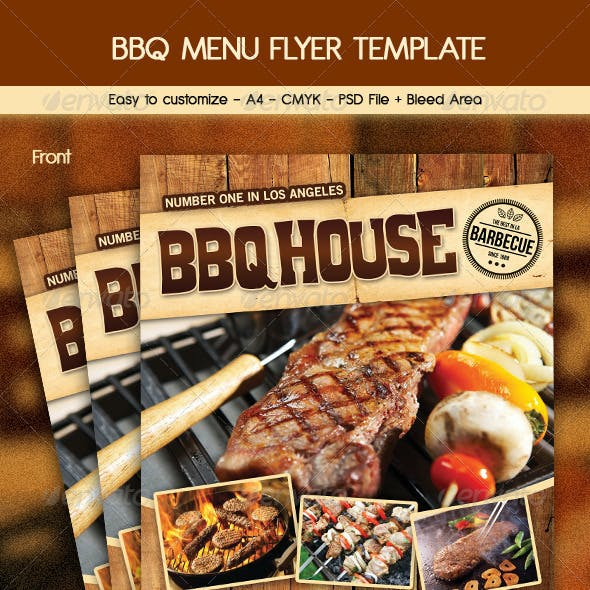 BBQ / Steak Menu Flyer