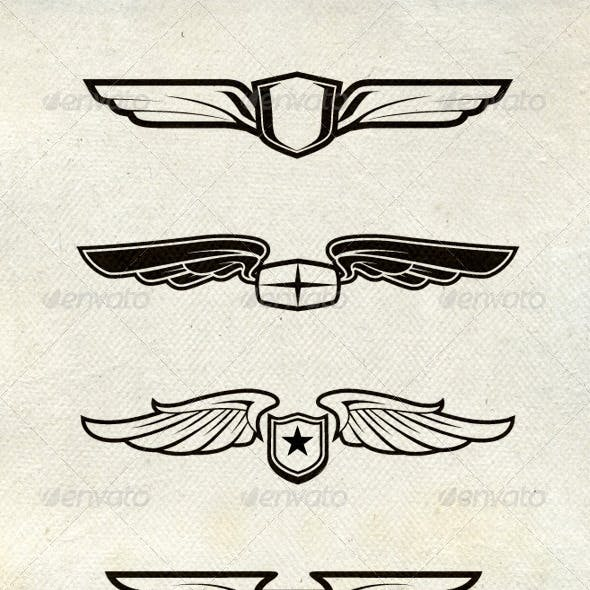 Various Wing Badges and Patch