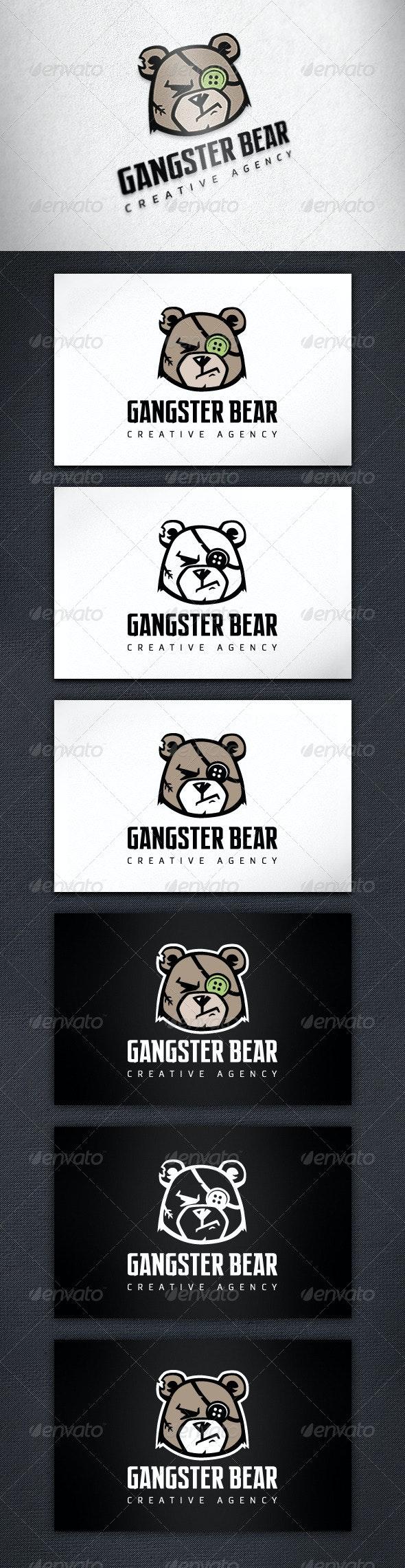Gangster Bear Logo Template - Animals Logo Templates