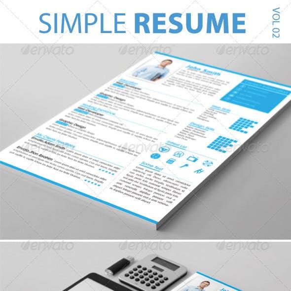 Simple Resume Vol-02