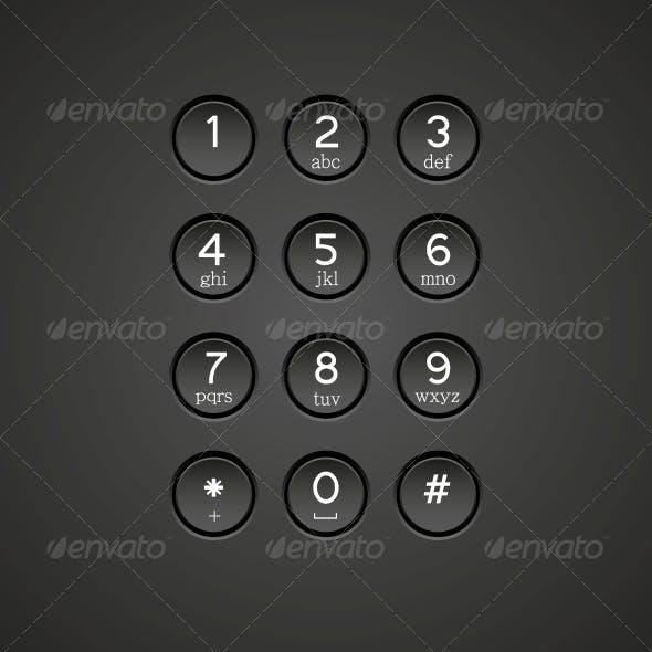Vector Phone Keypad Background