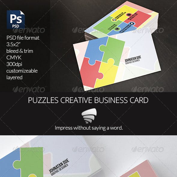 Puzzles Creative Business Card