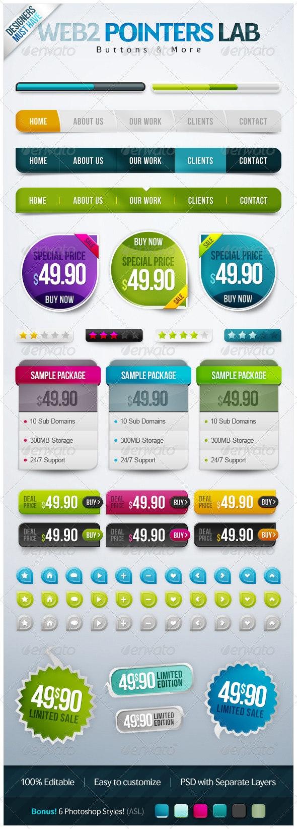 PointerButtons Lab - Buttons Web Elements