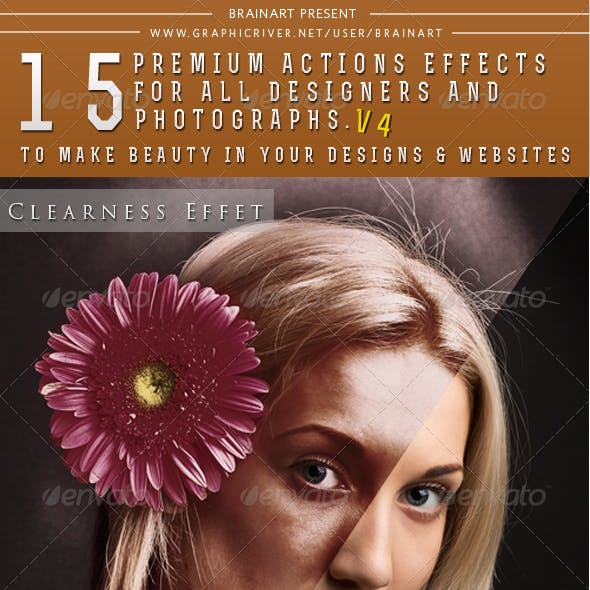 15 Premium Actions Photoshop Effects  V4