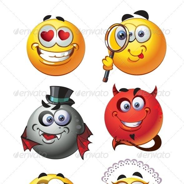 Set of Emoticon Smiles