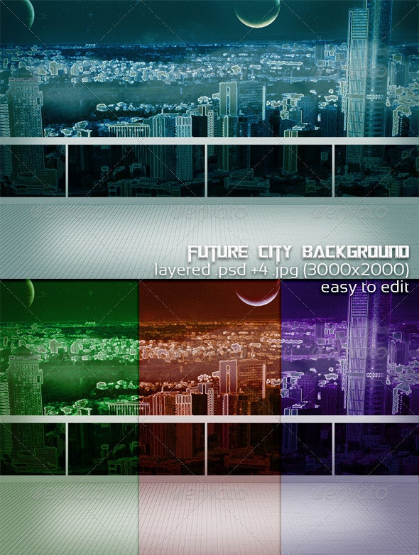 Future City Background - 3D Backgrounds