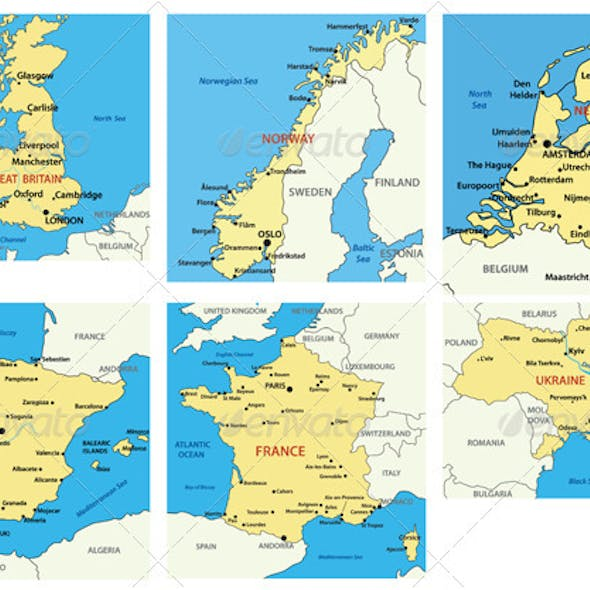 Maps of European countries - p.1