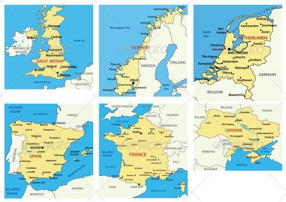 Maps of European countries - p.1 - Travel Conceptual