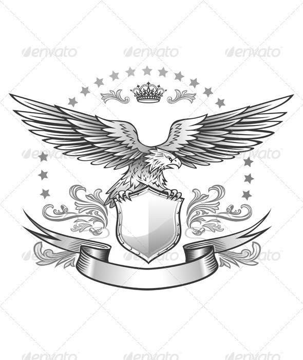 Spread winged eagle insignia - Animals Characters