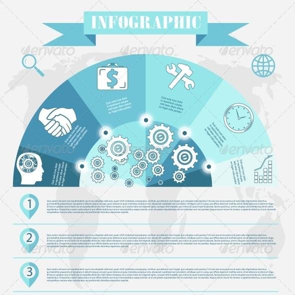 Business Development Infographics Vector - Concepts Business