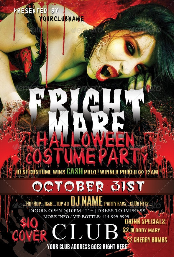 Frightmare Halloween Party  - Clubs & Parties Events