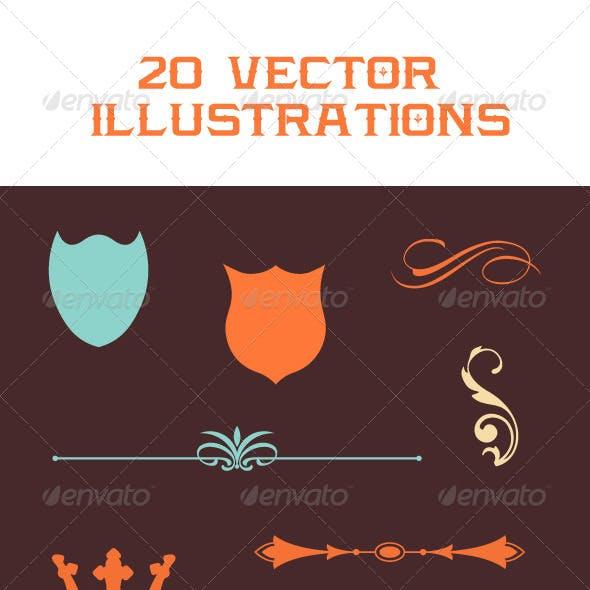 20 Vector Illustrations