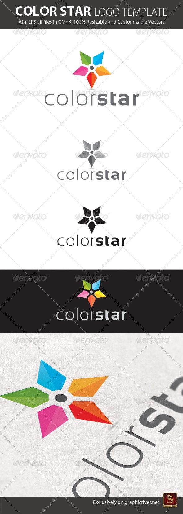 Color Star Logo Template - Vector Abstract