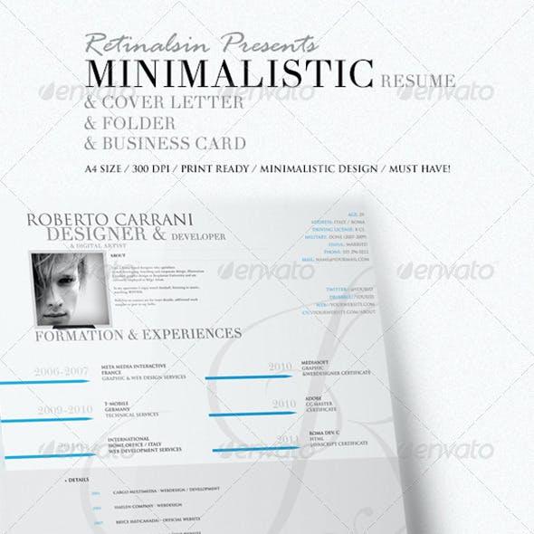 Minimalistic Resume & Cover Letter