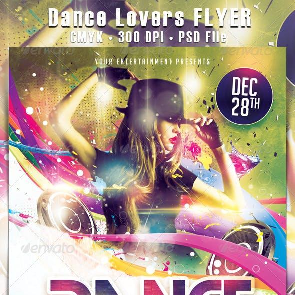 Dance Lovers Flyer