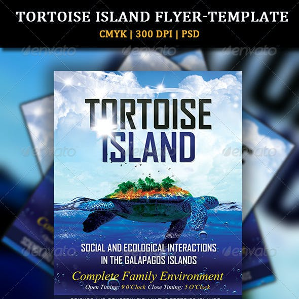 Tortoise Island Flyer-Template